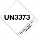 "4 x 4 3/4"" - ""UN3373 Biological Substance Category B"" Labels"