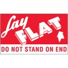 "3 x 5"" - ""Lay Flat - Do Not Stand On End"" Labels"