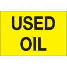 "2 x 3"" - ""Used Oil"" (Fluorescent Yellow) Labels"