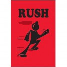"""2 x 3"""" - """"Rush"""" (Fluorescent Red) Labels"""