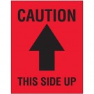 "3 x 4"" - ""Caution - This Side Up"" Arrow Labels"