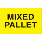 "3 x 5"" - ""Mixed Pallet"" (Fluorescent Yellow) Labels"
