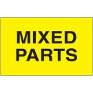 "3 x 5"" - ""Mixed Parts"" (Fluorescent Yellow) Labels"