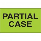"3 x 5"" - ""Partial Case"" (Fluorescent Green) Labels"