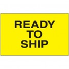 "3 x 5"" - ""Ready to Ship"" (Fluorescent Yellow) Labels"