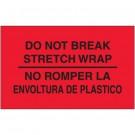 """3 x 5"""" - """"No Romper La Envoltura De Plastico"""" (Fluorescent Red) Bilingual Labels"""