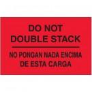 """3 x 5"""" - """"No Pongan Nada Encima De Esta Carga"""" (Fluorescent Red) Bilingual Labels"""