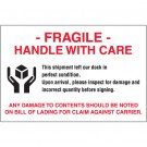 "4 x 6"" - ""Fragile - Handle With Care"" Labels"