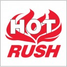 "4 x 4"" - ""Hot Rush"" Labels"