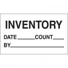 "3 x 5"" - ""Inventory - Date - Count - By"" Labels"