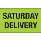 "3 x 5"" - ""Saturday Delivery"" (Fluorescent Green) Labels"