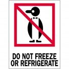 "3 x 4"" - ""Do Not Freeze or Refrigerate"" Labels"
