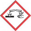 "1 x 1"" Pictogram - Corrosion Labels"