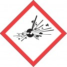 "1 x 1"" Pictogram - Exploding Bomb Labels"