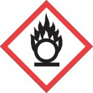 "1 x 1"" Pictogram - Flame Over Circle Labels"