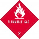 "4 x 4"" - ""Flammable Gas - 2"" Labels"