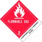 "4 x 4 3/4"" - ""Compressed Gases, Flammable, N.O.S."" Labels"