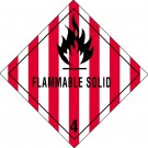 "4 x 4"" - ""Flammable Solid - 4"" Labels"
