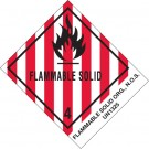 "4 x 4 3/4"" - ""Flammable Solids, N.O.S."" Labels"