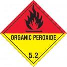 "4 x 4"" - ""Organic Peroxide - 5.2"" Labels"