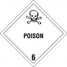 """4 x 4"""" - """"Poison - 6"""" Labels"""