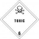"4 x 4"" - ""Toxic - 6"" Labels"