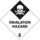 """4 x 4"""" - """"Inhalation Hazard - 6"""" Labels"""