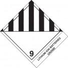 """4 x 4 3/4"""" - """"Lithium Ion Batteries"""" Labels"""