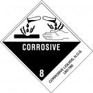 "4 x 4 3/4"" - ""Corrosive Liquids, N.O.S."" Labels"