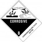 "4 x 4 3/4"" - ""Corrosive Solids, N.O.S."" Labels"