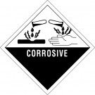 "4 x 4"" - ""Corrosive"" Labels"
