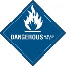 "4 x 4"" - ""Dangerous When Wet"" Labels"