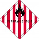 "4 x 4"" - ""Flammable Solid"" Labels"