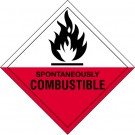 "4 x 4"" - ""Spontaneously Combustible"" Labels"