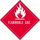 "4 x 4"" - ""Flammable Gas"" Labels"