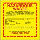"6 x 6"" - ""Hazardous Waste - California"" Labels"