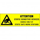"""5/8 x 2"""" - """"Attention - Static Sensitive Devices"""" Labels"""