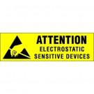 """3/8 x 1 1/4"""" - """"Electrostatic Sensitive Devices"""" Labels"""
