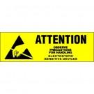 "5/8 x 2"" - ""Attention - Observe Precautions"" Labels"