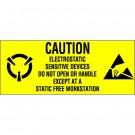 """1 x 2 1/2"""" - """"Electrostatic Sensitive Devices"""" Labels"""