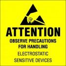 "4 x 4"" - ""Attention - Observe Precautions"" Labels"