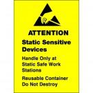 """1 3/4 x 2 1/2"""" - """"Static Sensitive Devices"""" Labels"""