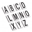 "3 1/2""  Vinyl Warehouse Letter Kit Labels"