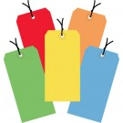 """4 3/4 x 2 3/8"""" Assorted Color 13 Pt. Shipping Tags - Pre-Strung"""