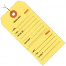 """4 3/4 x 2 3/8"""" Yellow Repair Tags Consecutively Numbered - Pre-Wired"""