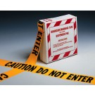 "3"" x 1000' Yellow Barricade and Warning Tape - ""Caution Do Not Enter"" Message (3 mil)"