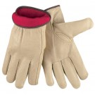 Pigskin Leather Drivers Gloves Lined - Medium
