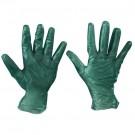Vinyl Gloves- Green - 6.5 Mil. - Powdered - Small