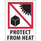 "3 x 4"" - ""Protect from Heat"" Labels"
