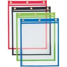 "9 x 12"" Heavy Weight Job Ticket Holders - Assorted Colors"